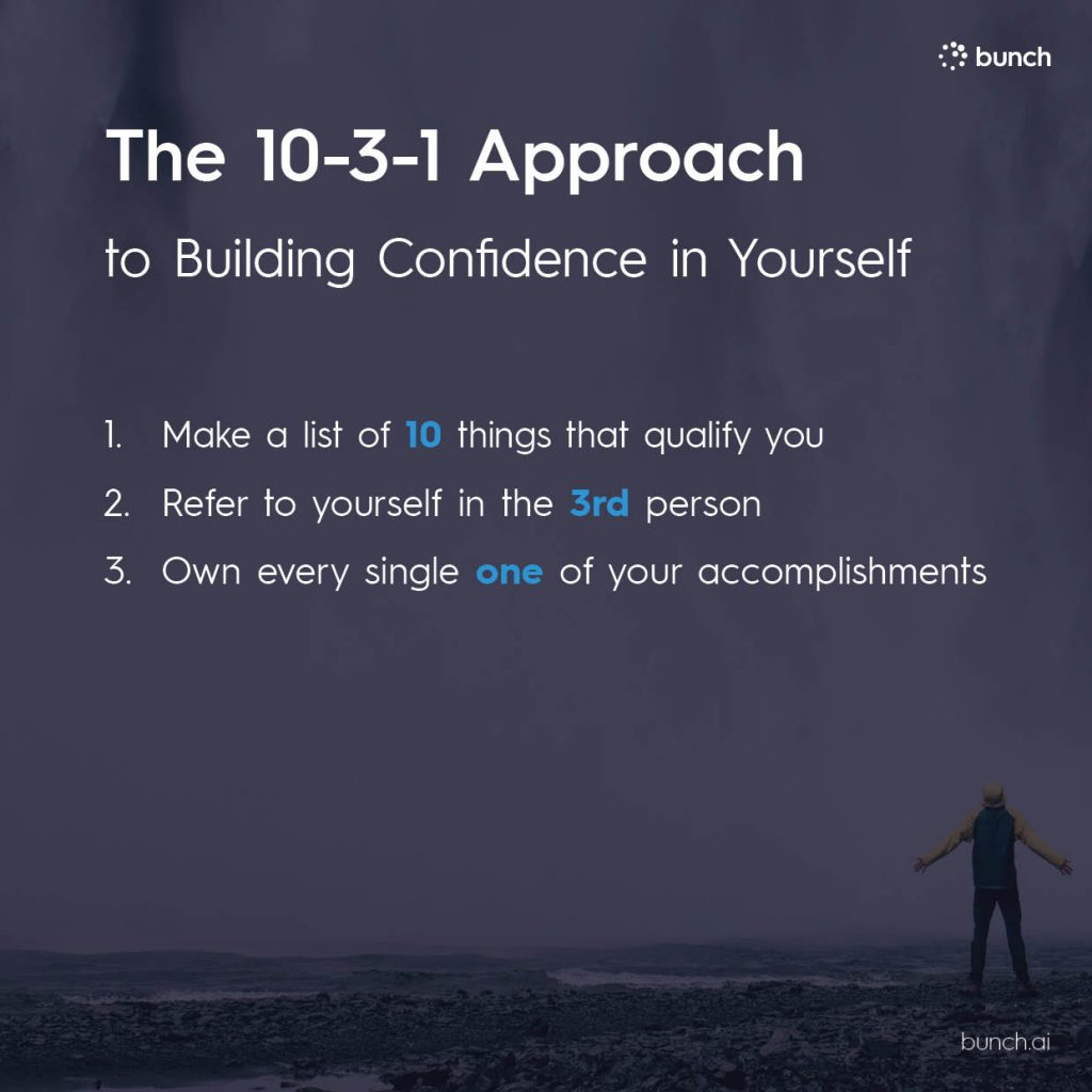 10-3-1 Approach to building confidence in your self