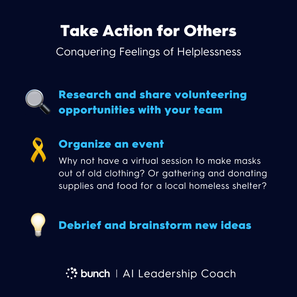 Bunch AI Leadership Coach -  Taking Action for Others