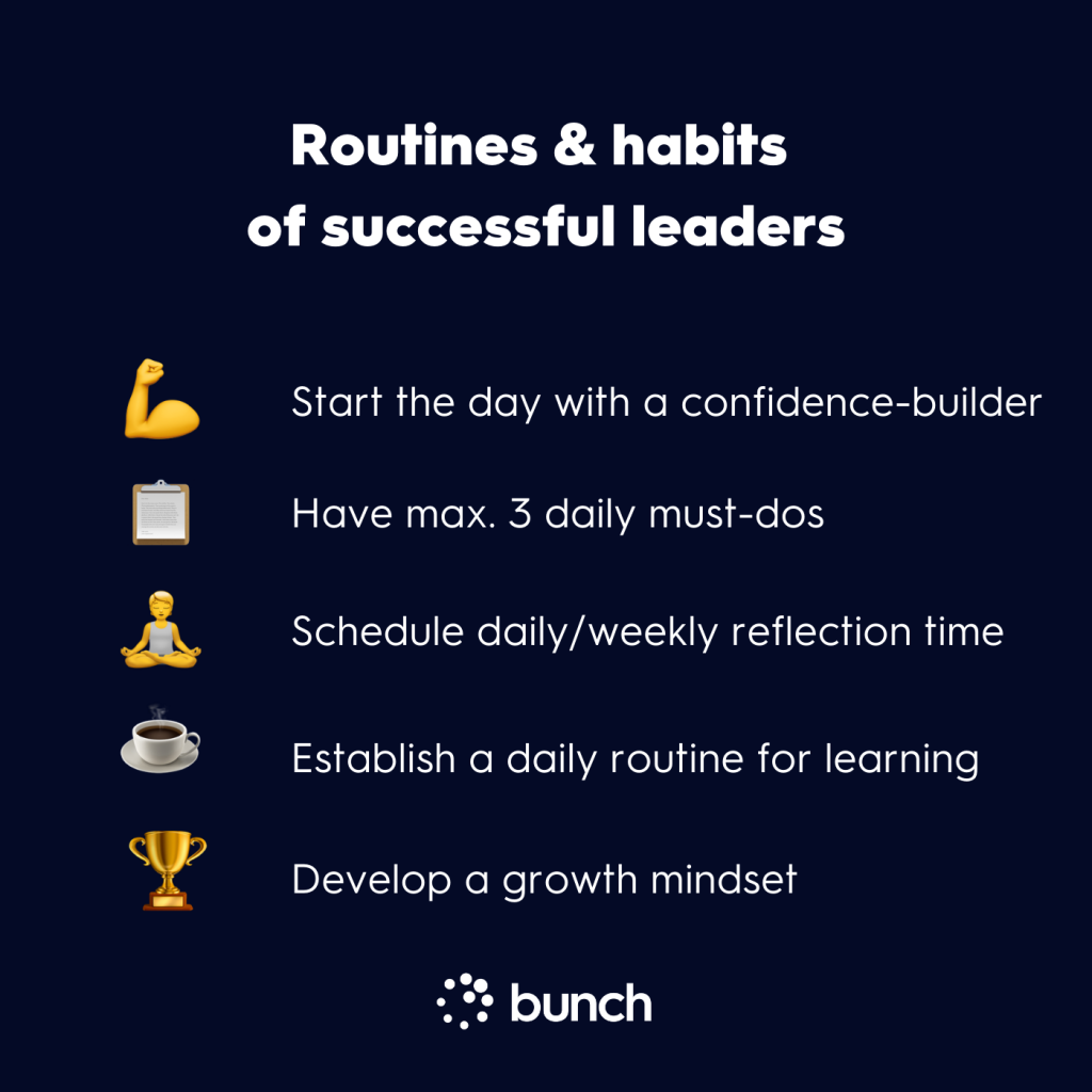 Routines & habits of successful leaders