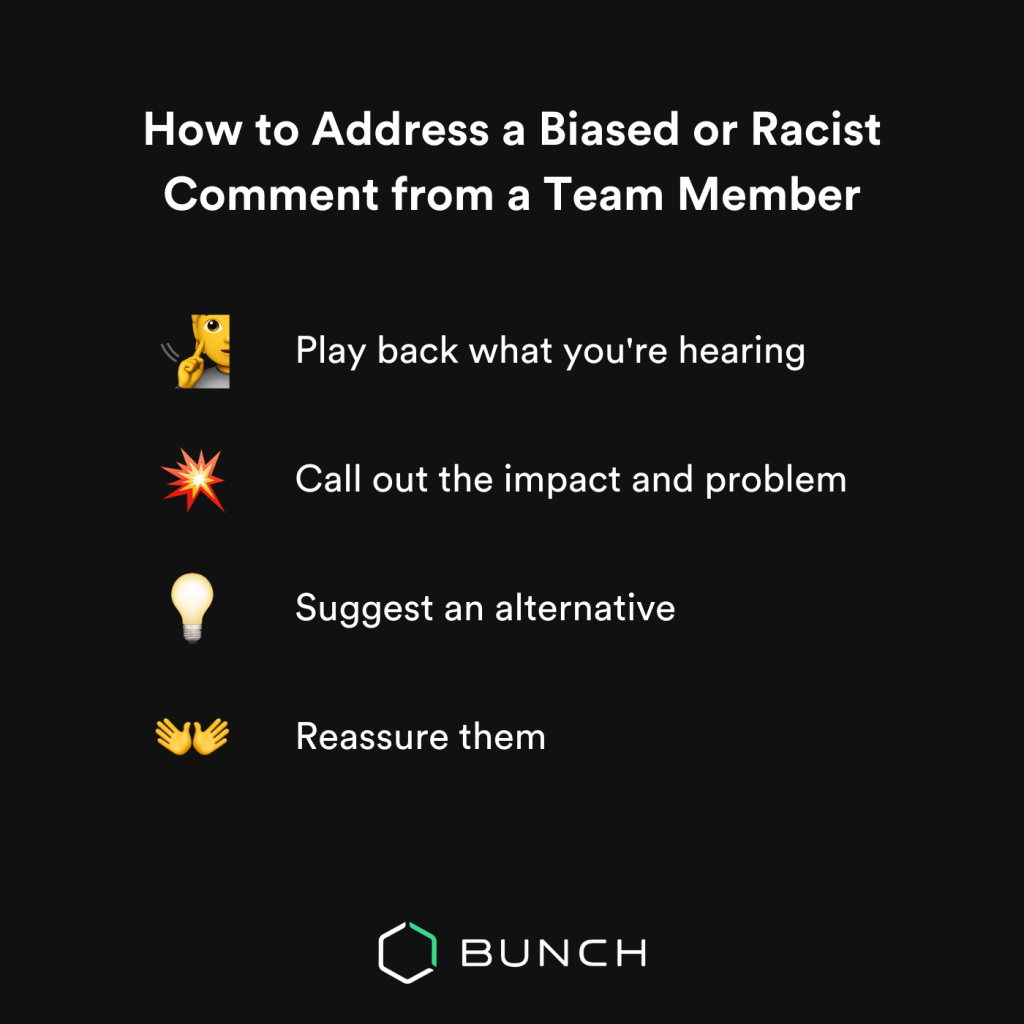 How to address biased or racist comments in your team